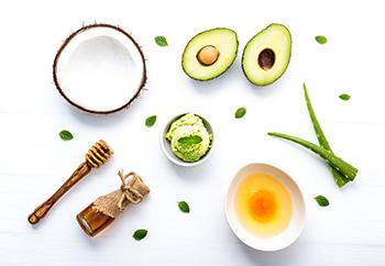 ingredienser för hemmagjord ansiktsmask