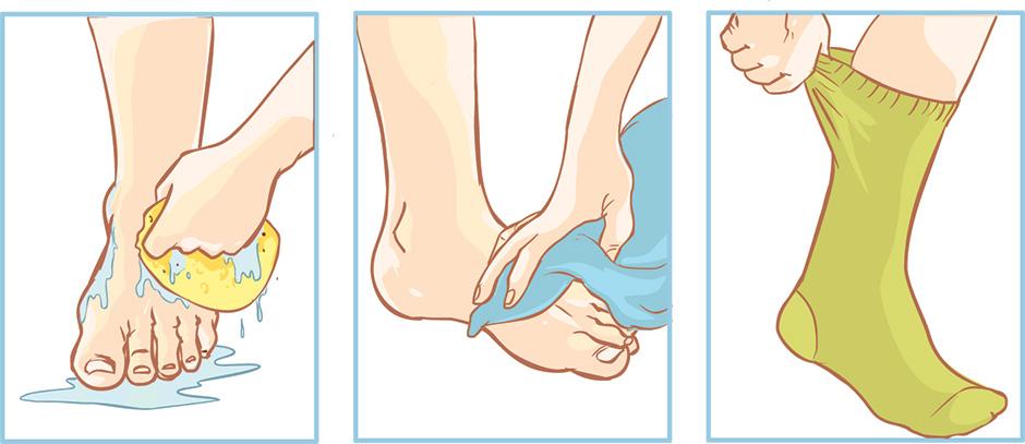 fothygien och nagelsvamp