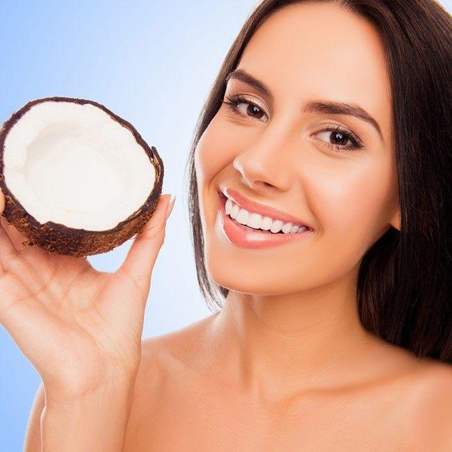 Tandblekning med kokosolja