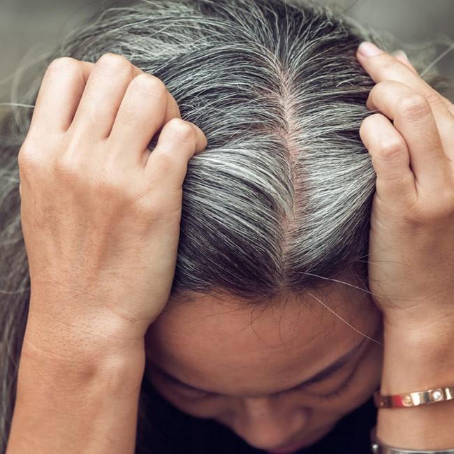 Behandla grått hår