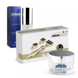 Collagen Super Pack med serum, ansiktsmask och dermaroller