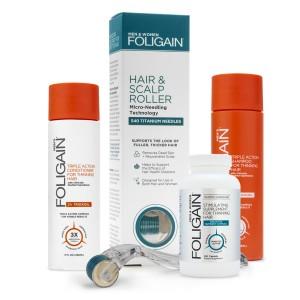 Foligainpaket för Män | Hårvårdspaket mot förtunnat hår hos män