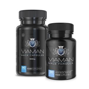 Viaman-paket | Naturliga tillskott för manlig förstärkning