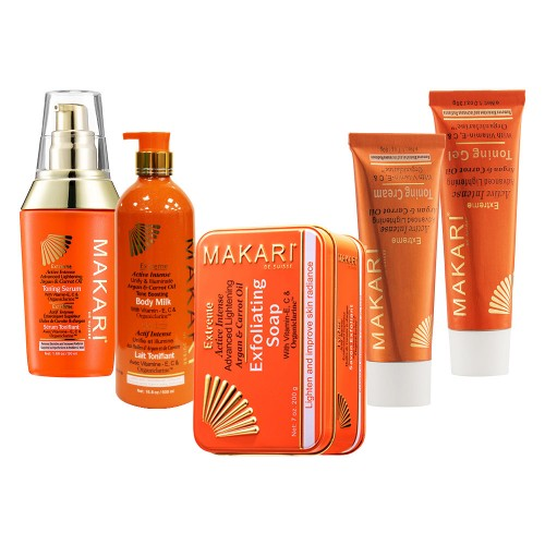 Extreme Complete Range for Skin Lightening and Toning - Lotion, Cream, Serum, Gel and Soap