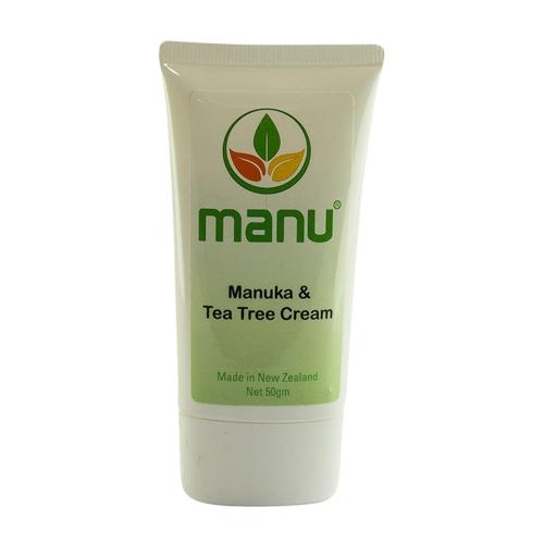 Manuka & Tea Tree Cream - 50g Natural Essential Oil Cream - Gentle Cream For All Skin Types - Cream To Soothe Dryness, Redness & Irritation