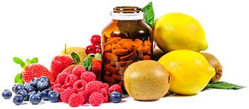 Slipp mörka ringar med vitaminer
