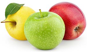 Hemmagjord ansiktsmask mot finnar med äpple