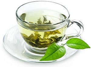 får bort dubbelhakan med grönt te